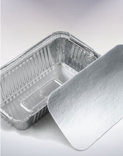 Aluminum container 8368 with lid