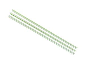 5mm PLA green stripe straw