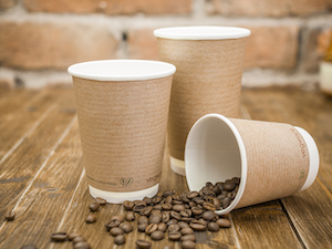 12oz double wall brown kraft cup