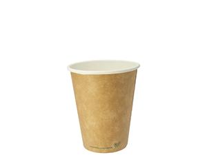 8oz brown kraft hot cup