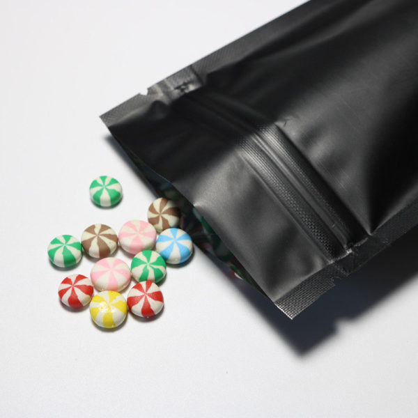 Matt black pouch 500g