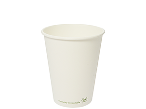 12oz white hot cup
