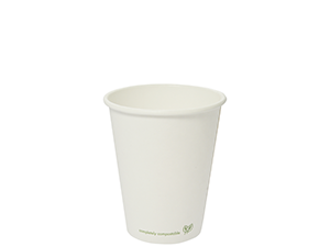 8oz white hot cup