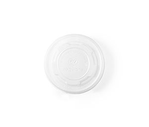 90mm flat CPLA lid (fits 6-10oz soup containers)