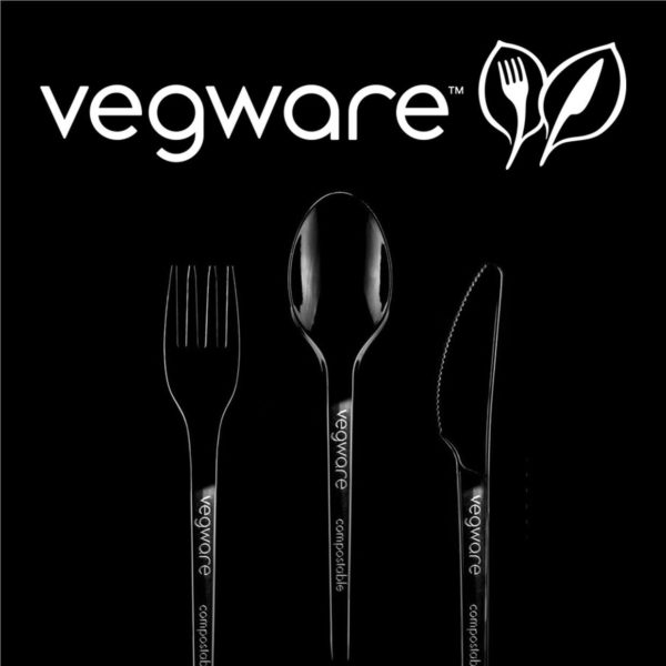 Black Recycled PLA cutlery