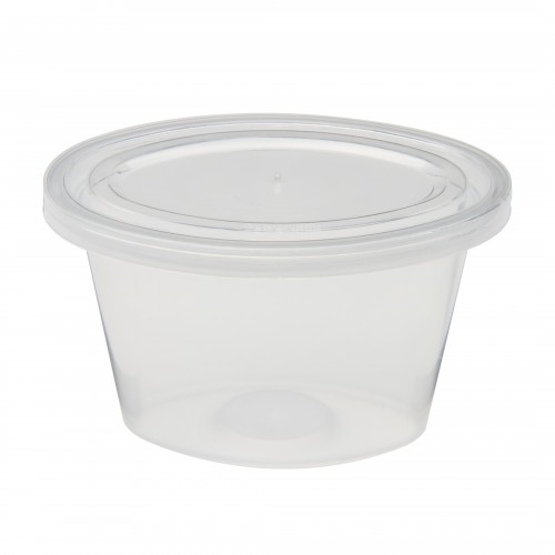 3.5 oz clear sauce container