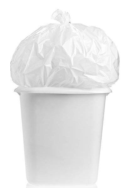 White HD garbage bags