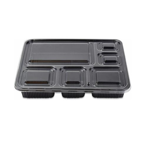 Microwave container 6 section with Lid  (150pcs per carton )