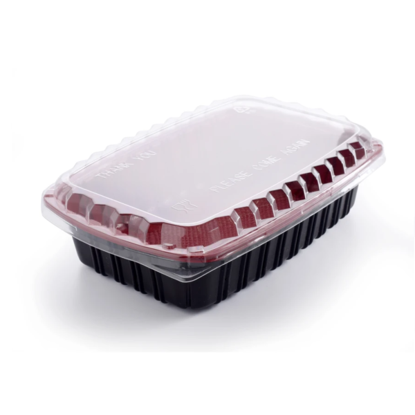 Red and Black microwave container with Lid ( 1000ml )
