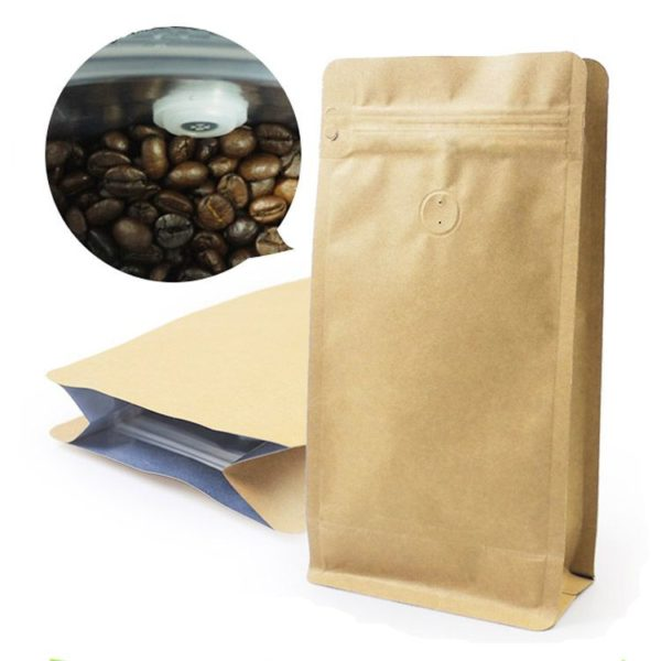 Brown coffee pouch with valve (250grams)