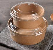 disposable-kraft-paper-salad-bowl-with-pet